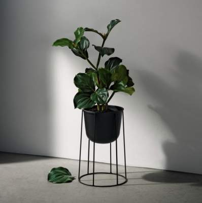Stojak na kwiaty doniczkowe Menu Wire Base czarny 40 cm